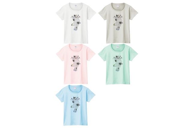 フルート猫のTシャツ
