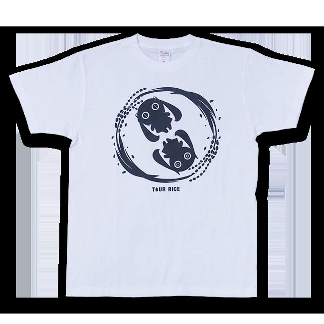 ピノキオピー 銀シャリTシャツ(メンズ/白米バージョン) - 画像1