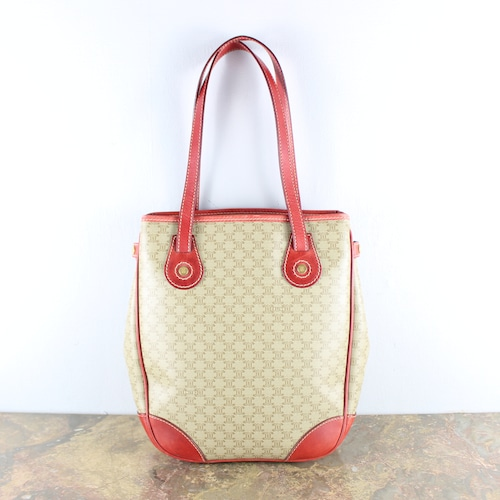 .OLD CELINE MACADAM PATTERNED TOTE BAG MADE IN ITALY/オールドセリーヌマカダム柄トートバッグ2000000050652