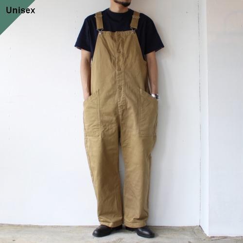 HARVESTY ハーベスティ CHINO CLOTH OVERALLS チノクロスオーバーオール A12008 カーキベージュ