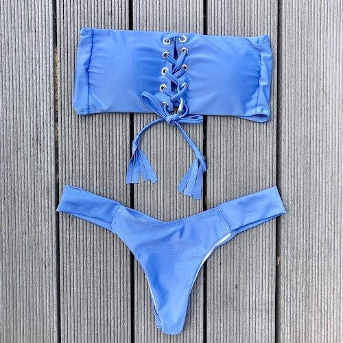 Bikini♡レースアップバンドゥビキニ ブルー GSB18S109BLU