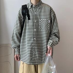 ギンガムチェックルーズシャツ BL9207