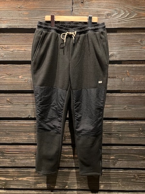Turn Me On  マイクロフリース裾ファスナーイージーパンツ (BLACK)  Mサイズ  221-143