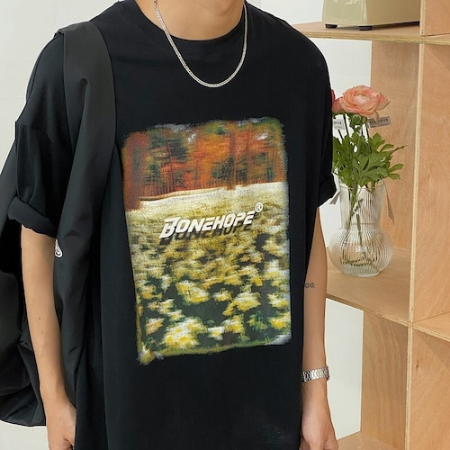 フラワーフォトプリントTシャツ BL9106