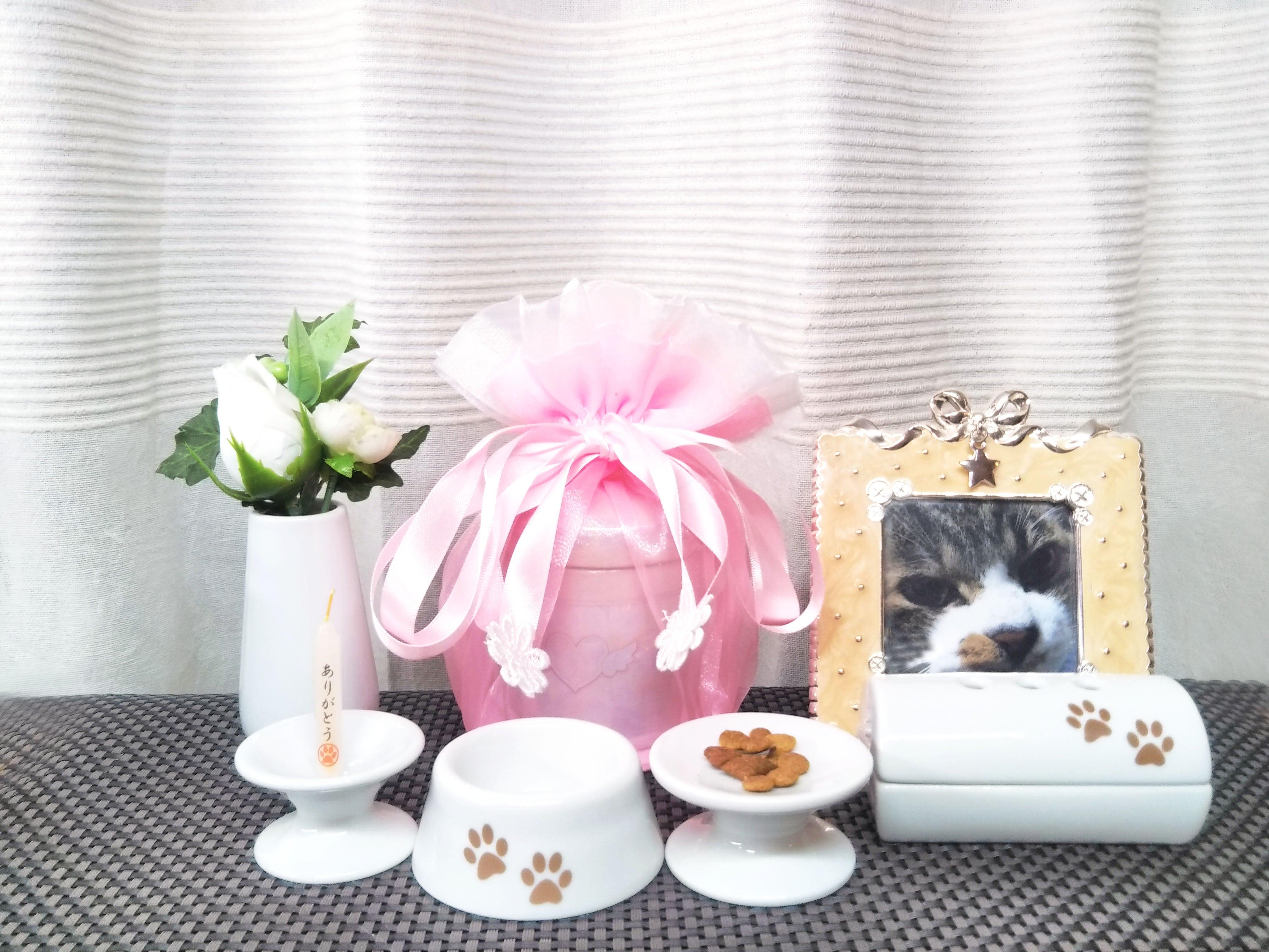 エンジェルセット(骨壺と外カバーセット) 【選べる3色】小動物・小型犬・猫サイズ 3・3.5・4寸用