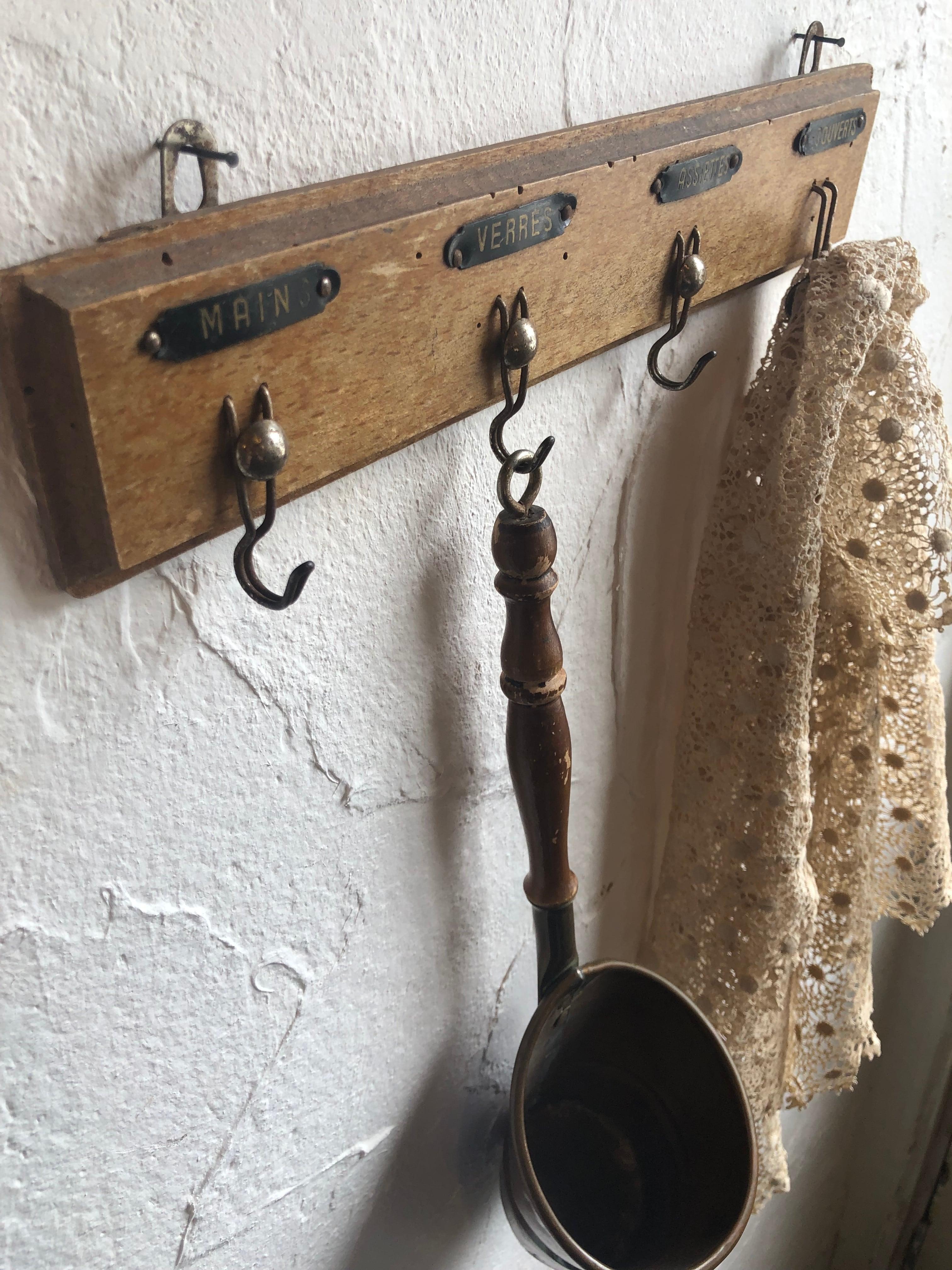 A様専用★フランスアンティーク木製トーションフック