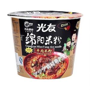 【常温便】光友绵阳牛肉米线碗装