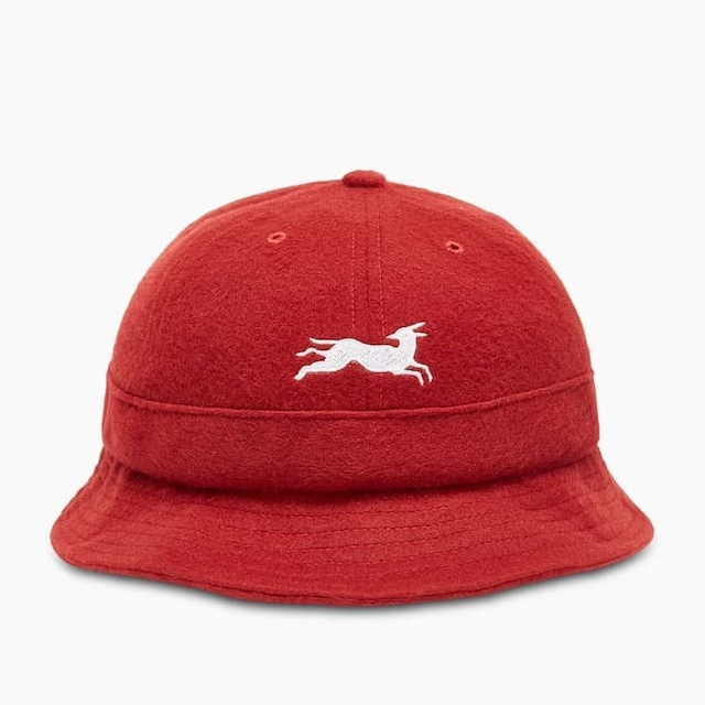 BY PARRA JUMPING FOX BELL BUCLKET HAT RED