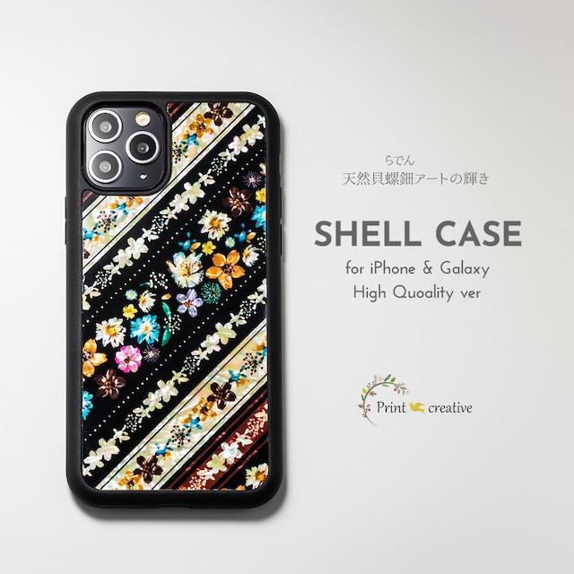【iPhone13対応】天然貝シェル★フェリーチェ(iPhone/Galaxyハイクオリティケース)|螺鈿アート
