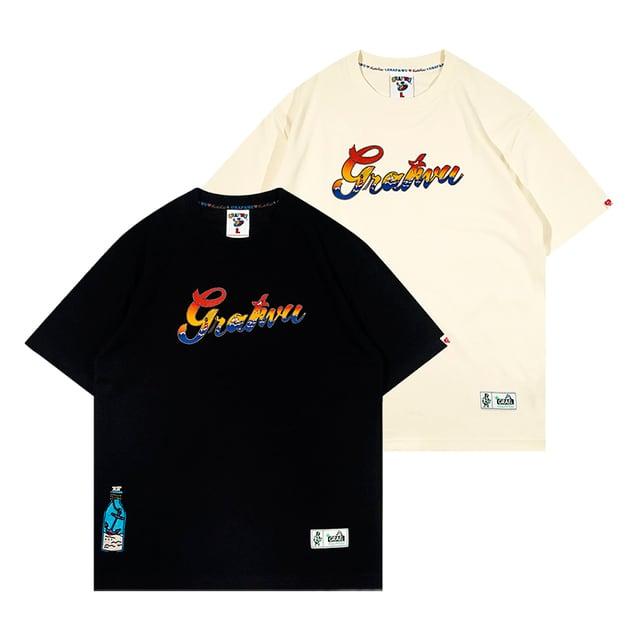 【GRAF】フロントロゴサンライズTシャツ