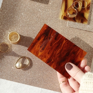 DISPLAY GOODS || 【通常商品】 DISPLAY MAT & PLATE SET (GOLD GLITTER × BROWN) || 2 ITEMS || GOLD×BROWN || FAL063