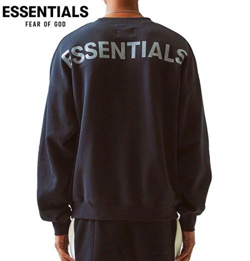 エッセンシャルズ スウェット トレーナー フィアオブゴッド エッセンシャルズ リフレクター ロゴ クルーネック スウェット FOG ESSENTIALS REFLECTOR LOGO CREW SEWAT SHIRTS ブラック