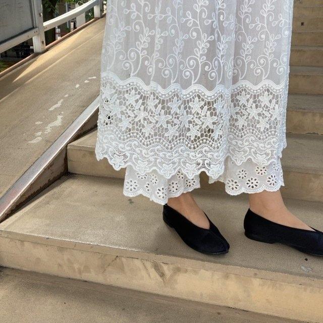 Topanga Lady's スカート付きペチパンツ ホワイト