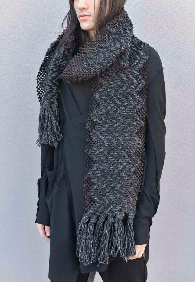 LEATHER CORNICE SCARF[登録意匠][MADE IN JAPAN][税/送料込み]