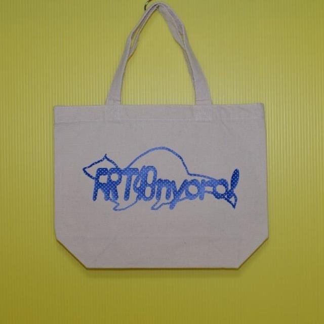 FRT48nyoro!ロゴ &We Love Ferrets スタンダード キャンバス トートバッグ(4) ナチュラル Sサイズ