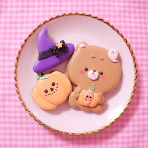 ハロウィンくまちゃんアイシングクッキー♡