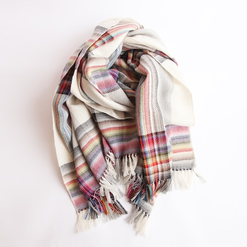 THE INOUE BROTHERS/Multi Coloured Stole/White