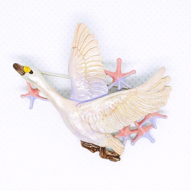 《鳥/白鳥》 白鳥星雲 ブローチ Palnart Poc パルナートポック ハクチョウ PB123