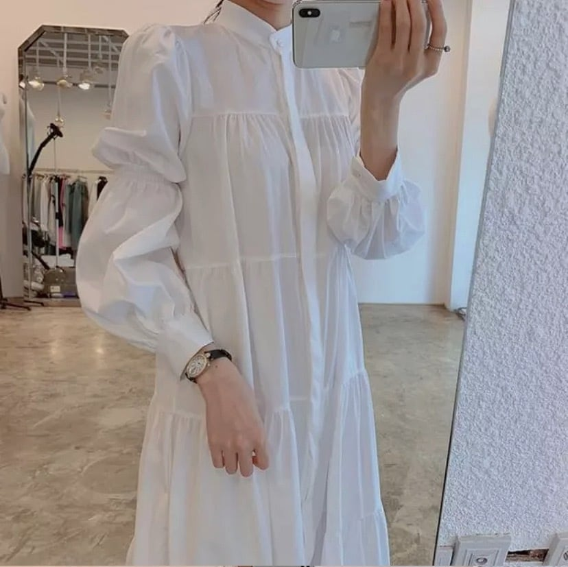 simple shirt dress 2color