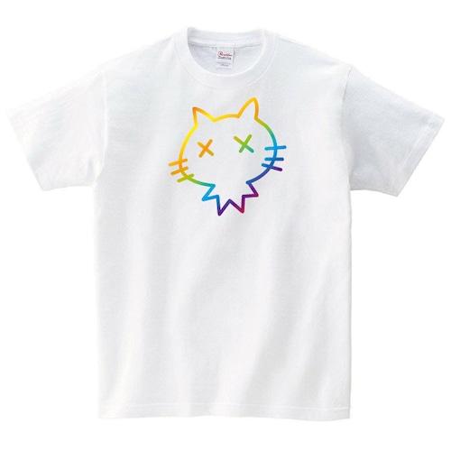 ダメ猫 Tシャツ メンズ レディース 半袖 かわいい シンプル ゆったり おしゃれ トップス 黒 カラフル ペアルック プレゼント 大きいサイズ 綿100% 160 S M L XL