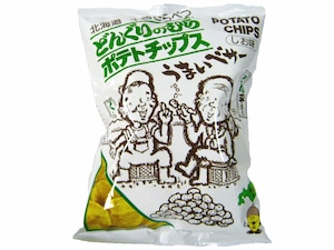 【20袋セット】どんぐり村のポテトチップス うす塩