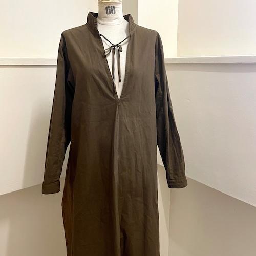 【RehersalL】2way medical onepiece gown(brown) /【リハーズオール】2wayメディカルワンピースガウン(ブラウン)