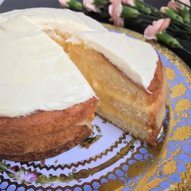 エルダーフラワーとレモンのケーキ
