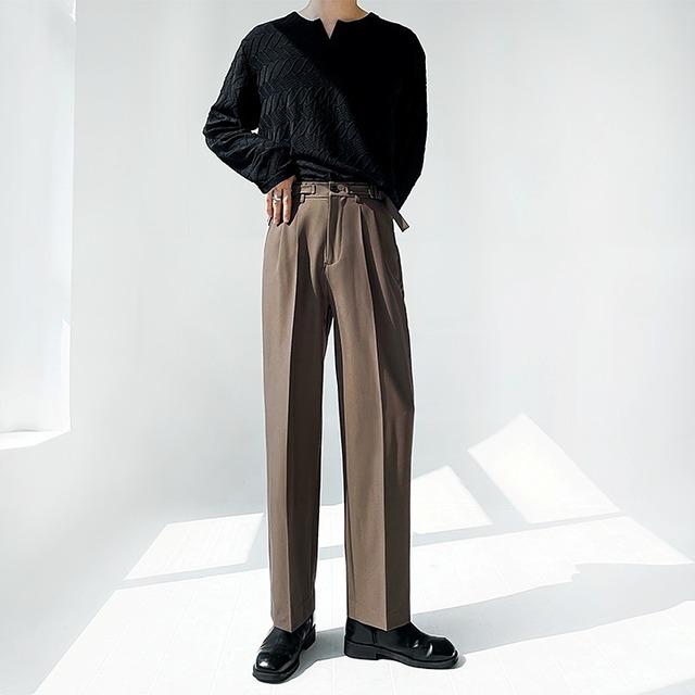 Double buckle drape pants   b-532