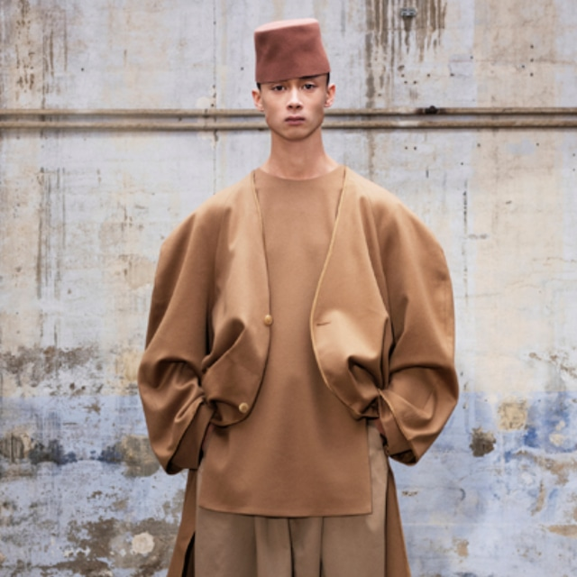 HED MAYNER - FULLY LINED SHIRT - AW21_J20_CML/ WO WO - CAMEL WOOL