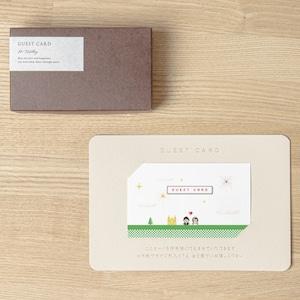 【ゲストカード│名入れなし】PIXEL BLOCK(ピクセルブロック)│30枚セット