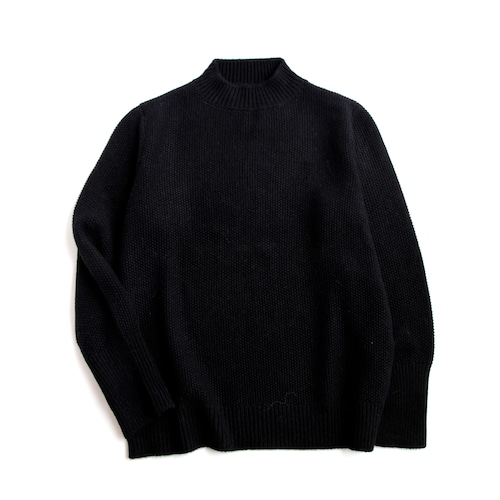 THE INOUE BROTHERS/Low Gauge/Mock Neck Sweater/Black