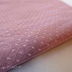 正絹 褪せたピンクにドットのはぎれ