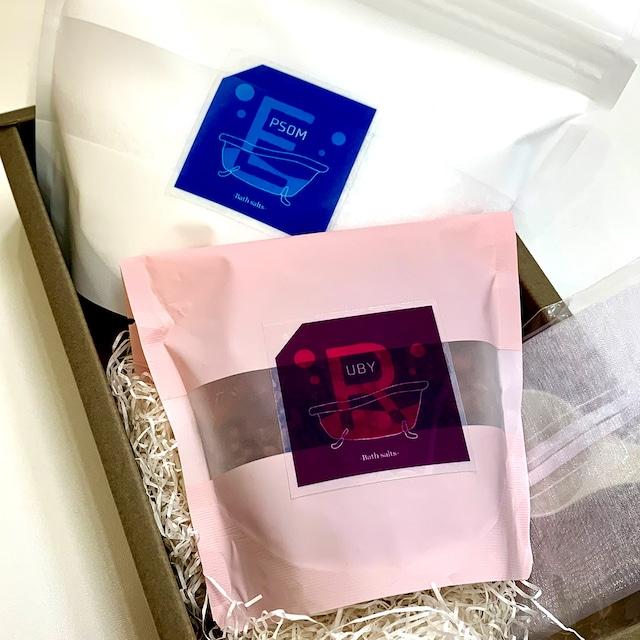 バスソルトセット(スプーン・巾着袋付き)Gift Box