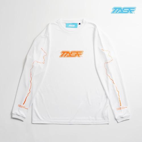 TASF  /  DRY L/S Tee  / YodoRiver  /  WH×Neon Orange