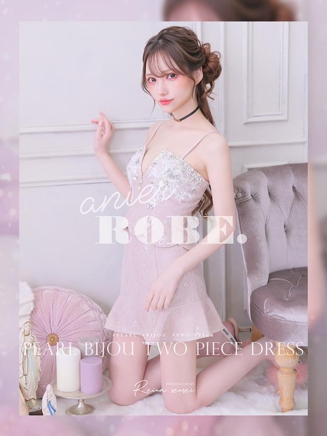 【 ROBE de FLEURS】Pearl Bijou Two Piece Dress(anier4003)