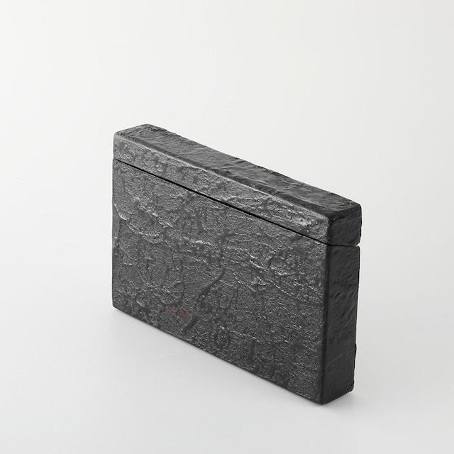 【夜久野高原漆器】】カードケース(一閑黒)Lacquered card case