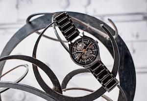【RADO ラドー】True Open Heart BLACK×GOLD/トゥルーオープンハート(ブラック×ゴールド)/国内正規品 腕時計