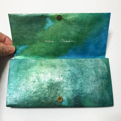 黒谷和紙の長財布【海原】