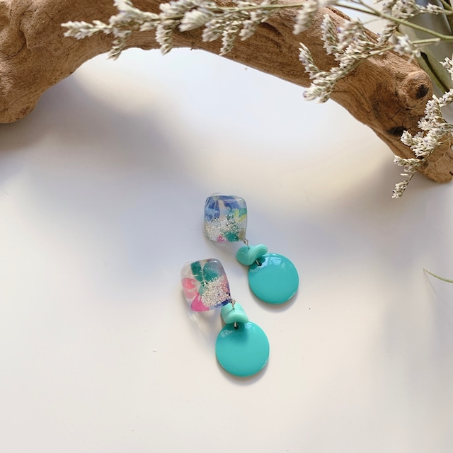 """ Earrings NO.danoan-51″ リバティチェコ、イタリアビーズ"