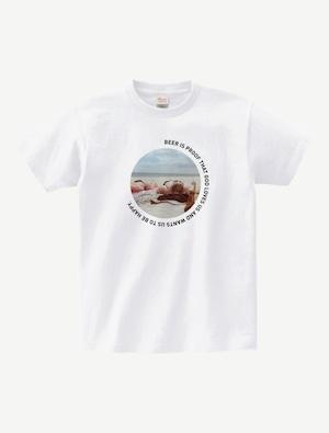 BEER IS PROOF TシャツBP0009WHT