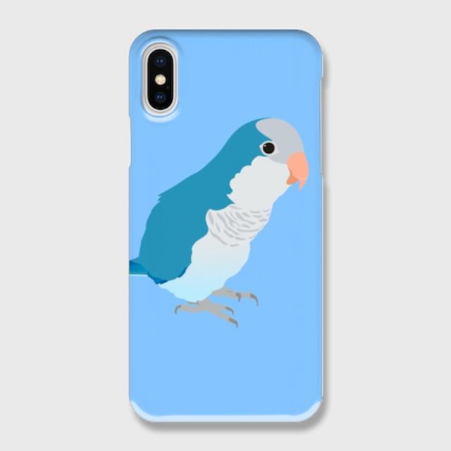 iPhoneケース オキナインコ ブルー【各機種対応】