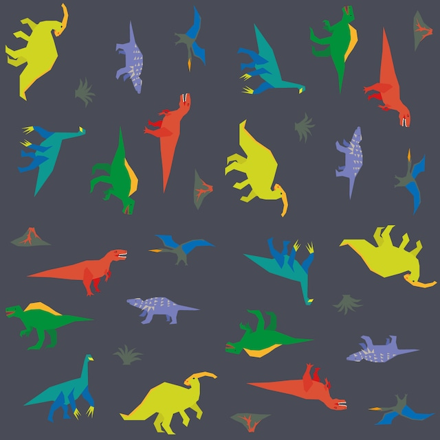 テキスタイル「恐竜」カットクロス50x50cm