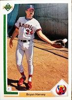 MLBカード 91UPPERDECK Bryan Harvey #592 ANGELS