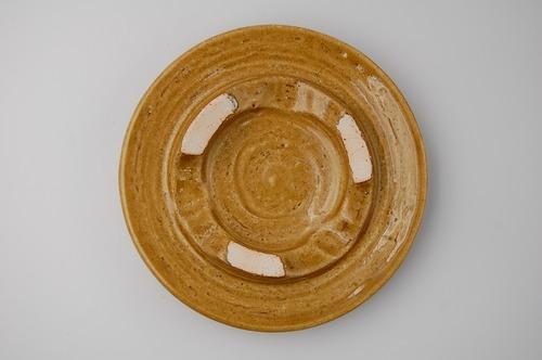 ◆受注生産◆  黄瀬戸三峰6寸皿