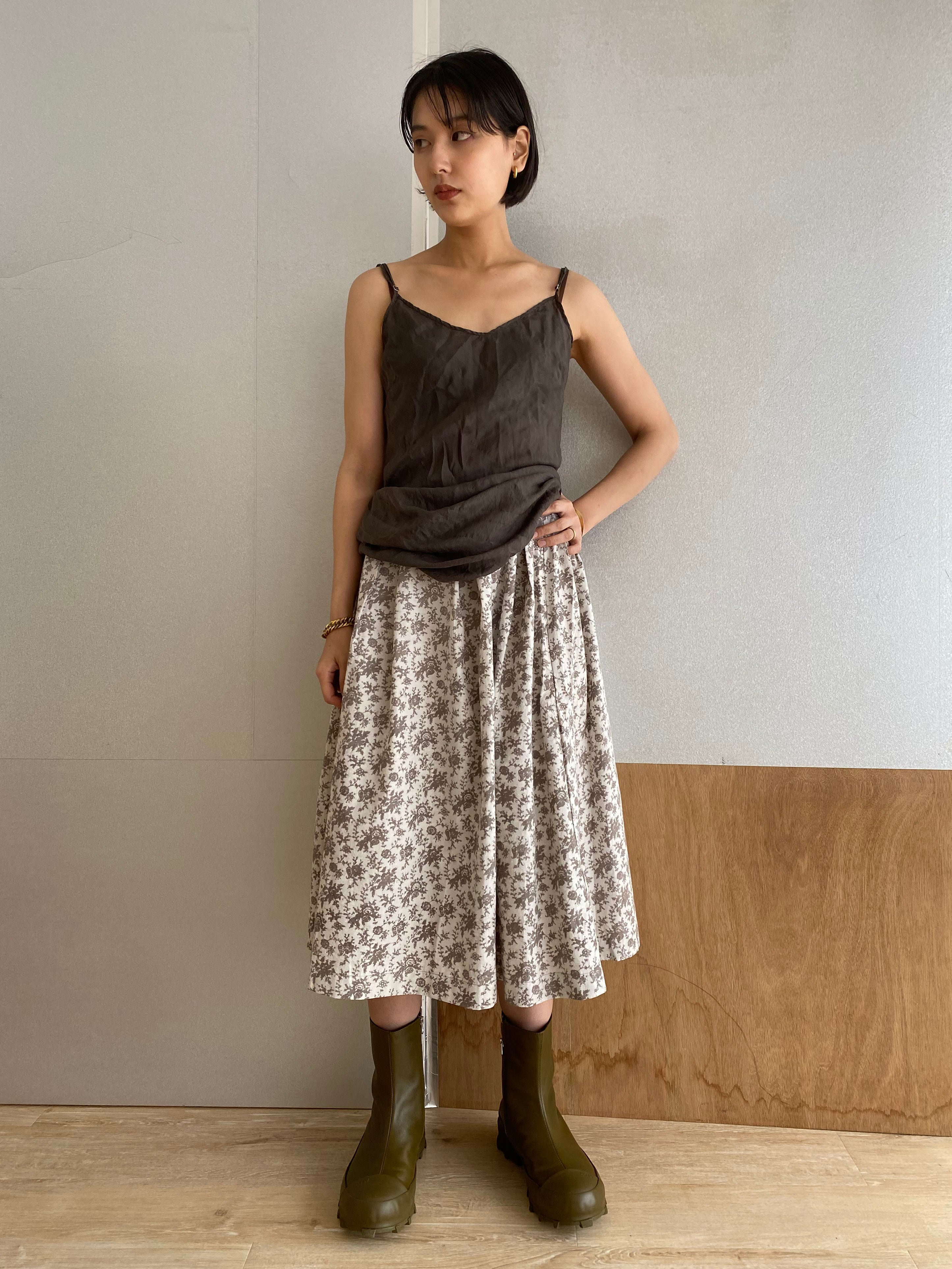 "Tuck Skirt ""dub print"""