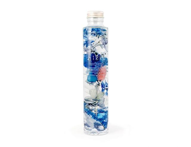 hikkaハーバリウム スリムボトル ブルー