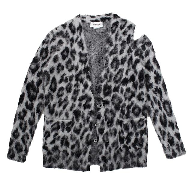 MONSE Leopard Knit Cardigan