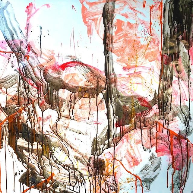絵画 絵 ピクチャー 縁起画 モダン シェアハウス アートパネル アート art 14cm×14cm 一人暮らし 送料無料 インテリア 雑貨 壁掛け 置物 おしゃれ 抽象画 現代アート ロココロ 画家 : tamajapan 作品 : t-22