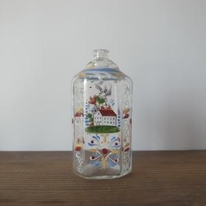 German enamel glass bottle