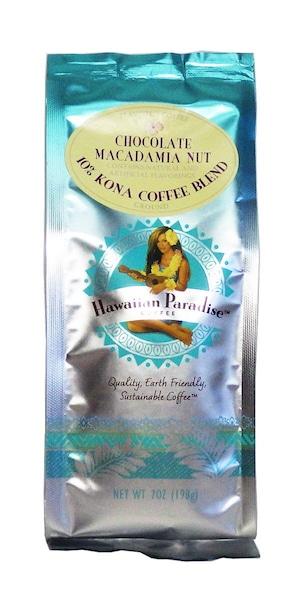 チョコレートマカダミア(挽き済みの粉) ハワイアンパラダイス(7oz 198g) ハワイコナコーヒー フレーバーコーヒー